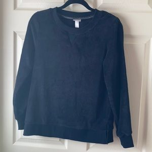 Fleece Black Top by Target Small New